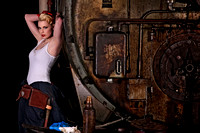 Working Girl Pinup Portrait Photography