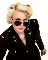 Boss Lady Pinup Portrait Photography