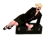 Military Style Pinup Portrait Photography